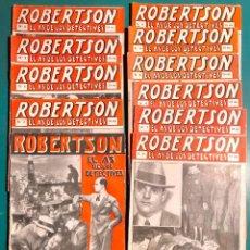 Cómics: FOLLETINES, ROBERTSON EL AS DE LOS DETECTIVES, AÑOS 20, DEL 1 AL 34. Lote 147709274