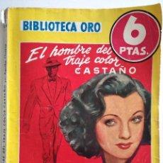 Cómics: EL HOMBRE DEL TRAJE COLOR CASTAÑO - AGATHA CHRISTIE - BIBLIOTECA ORO Nº 218 - AÑO 1947. Lote 148345130