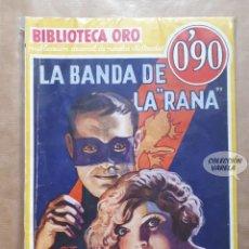 Comics : BIBLIOTECA ORO - LA BANDA DE LA RANA - EDGAR WALLACE - MOLINO - Nº III 1 - AÑO I. Lote 160013438