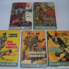 Cómics: LOTE DE 5 NOVELAS HAZAÑAS BÉLICAS - EDIT. ALFIL - IMPORTADO POR TORAY - PRINCIPIO DE LOS AÑOS 60 -. Lote 243909995