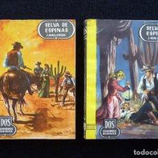 Cómics: DOS HOMBRES BUENOS, ED. CID. Nº 37 Y 38. SELVA DE ESPINAS, TOMOS I Y II. J. MALLORQUI. 1ª EDICIÓN, 1. Lote 165511530