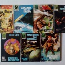 Cómics: LOTE DE 7 BOLSILIBROS - HEROES DEL ESPACIO - EDITORIAL ECSA - LAW SPACE, LOU CARRIGAN, JOSEPH BERNA. Lote 170251600