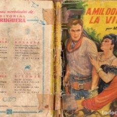 Cómics: NÚMERO 131: A MIL DÓLARES LA VIDA - M. DE SILVA - COLECCIÓN BISONTE - AÑO 1950. Lote 175931510