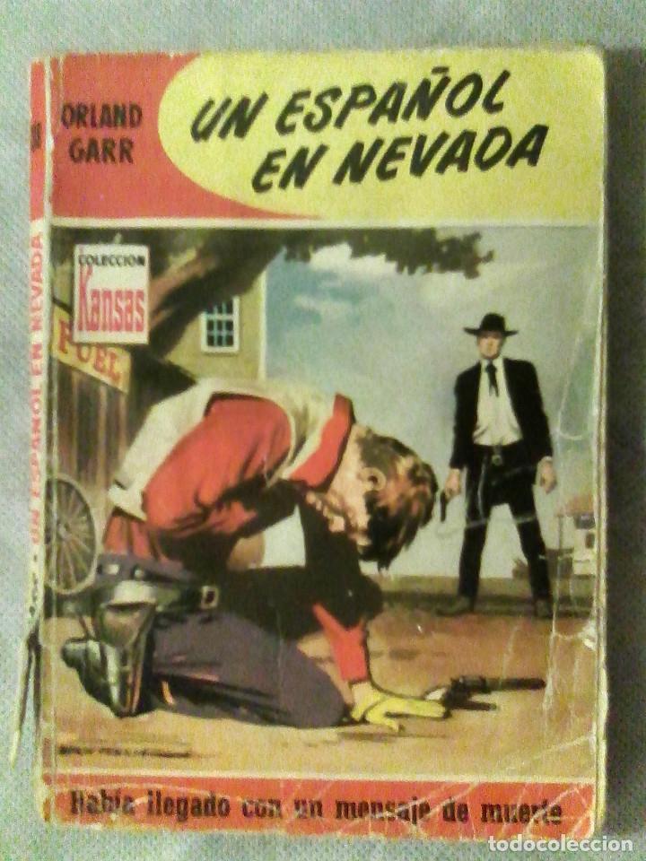 COL. KANSAS N.º 38 - UN ESPAÑOL EN NEVADA - ORLAND GARR (BRUGUERA, 1959, 1.ª ED.) - ADRIAN HOVEN (Tebeos, Comics y Pulp - Pulp)