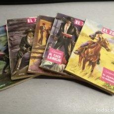 Cómics: EL ZORRO / LOTE 5 NOVELAS: 2, 5, 7, 11, 14 / J. SALGADO / EDITORIAL MATEU 1958. Lote 177238943