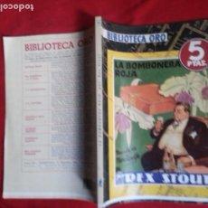 Cómics: LA BOMBONERA ROJA - REX STOUT - BIBLIOTECA ORO 10. Lote 178882527