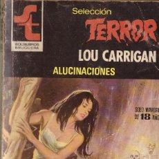 Cómics: BOLSILIBROS PULP, SELECCION TERROR, BRUGUERA, Nº 424: ALUCINACIONES - LOU CARRIGAN. Lote 179019065