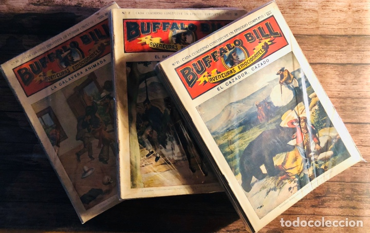 BÚFALO BILL AVENTURAS EMOCIONANTES, A FALTA DE 7 NÚMEROS. (Tebeos, Comics y Pulp - Pulp)
