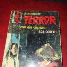 Cómics: NOVELA SELECCION TERROR NUMERO 227. PEOR QUE ASESINAR.. . Lote 189146307