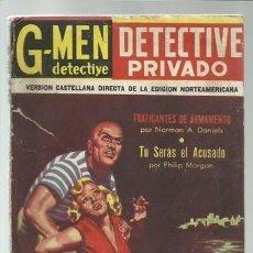 Cómics: DETECTIVE PRIVADO 25: TRAFICANTES DE ARMAMAENTO, 1957, PROTEO. COLECCIÓN A.T.. Lote 191664398