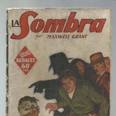 Cómics: COLECCIÓN HOMBRES AUDACES 3: LA SOMBRA, 1936, MOLINO, BUEN ESTADO. COLECCIÓN A.T.. Lote 288588523