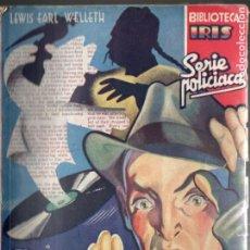 Cómics: L. E. WELLETH . EL DETECTIVE DE PAPEL (IRIS BRUGUERA, C. 1940). Lote 193718337