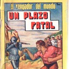 Cómics: FIDEL PRADO : EL VENGADOR DEL MUNDO - UN PLAZO FATAL (VALENCIANA, C. 1940). Lote 193737035