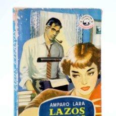 Cómics: COLECCIÓN MADREPERLA 246. LAZOS ETERNOS (AMPARO LARA) BRUGUERA BOLSILIBROS, 1953. CON DEDICATORIA. Lote 194707683