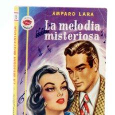 Cómics: COLECCIÓN AMAPOLA 15. LA MELODÍA MISTERIOSA (AMPARO LARA) 1952. CON DEDICATORIA. Lote 194707707