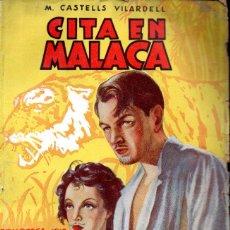 Cómics: M. CASTELLS VILARDELL . CITA EN MALACA (IRIS BRUGUERA, 1943). Lote 195308923