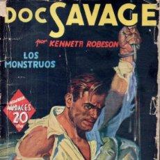 Cómics: HOMBREA AUDACES - DOC SAVAGE : LOS MONSTRUOS (MOLINO ARGENTINA, 1939). Lote 195428666