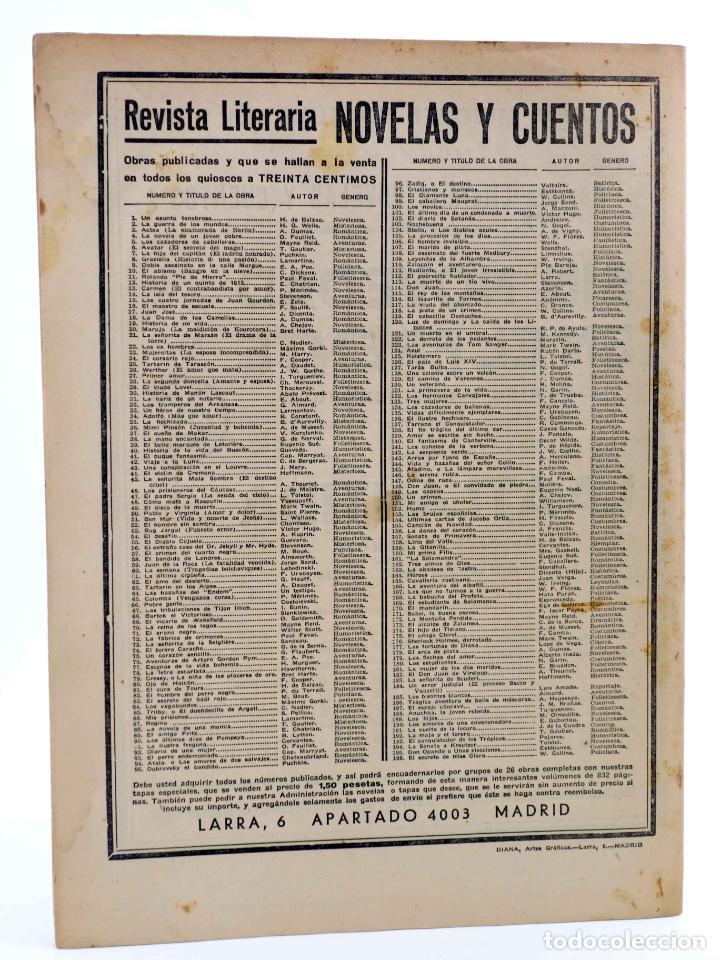 Cómics: REVISTA LITERARIA NOVELAS Y CUENTOS 196. EL SECRETO DE MISS CLARA (Wilkie Collins) Dédalo, 1932 - Foto 2 - 197674767