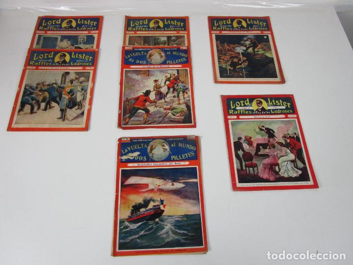 LOTE COMICS - LORD LISTER, RAFFLES EL REY DE LOS LADRONES - Nº 9, 25, 38, 43, 47, 53, 55 (Tebeos, Comics y Pulp - Pulp)