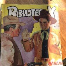 Cómics: CUATRO NOVELAS DEL OESTE, EL SHERIFF, PUEBLOS DEL OESTE, BIBLIOTECA X. Lote 198385262