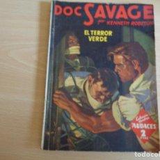 Cómics: HOMBRES AUDACES Nº 92. DOC SAVAGE Nº 24. EL TERROR VERDE. EDITA MOLINO 1945. BUEN ESTADO. Lote 200372642