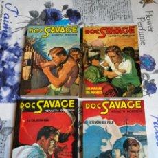 Cómics: LOTE 4 NOVELAS DOC SAVAGE.KENNETH ROBESON.CATE.AÑOS 80. Lote 204281583