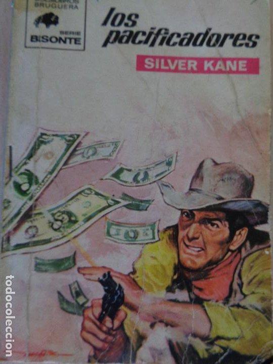 BISONTE Nº 1183. LOS PACIFICADORES. SILVER KANE. BRUGUERA 1970 (Tebeos, Comics y Pulp - Pulp)