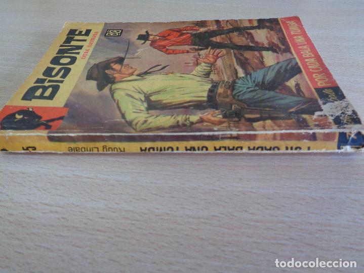 Cómics: Colección Bisonte Extra Ilustrada Nº 475. Por cada bala una tumba. Rodolfo Bellani. Bruguera 1964 - Foto 3 - 205279740