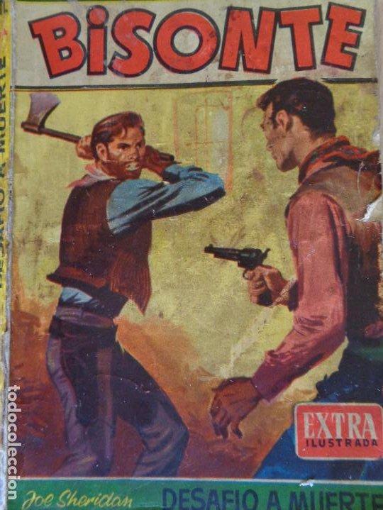 BISONTE EXTRA ILUSTRADA Nº 342. DESAFÍO A MUERTE. JOE SHERIDAN. BRUGUERA 1962 (Tebeos, Comics y Pulp - Pulp)