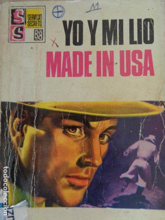 SERVICIO SECRETO Nº 1000. YO Y MI LIO MADE IN USA. SILVER KANE. BRUGUERA 1969 (Tebeos, Comics y Pulp - Pulp)