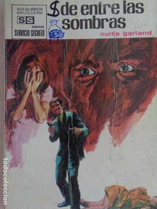 SERVICIO SECRETO Nº 1074.DE ENTRE LAS SOMBRAS. CURTIS GARLAND. BRUGUERA 1971 (Tebeos, Comics y Pulp - Pulp)