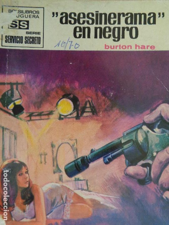SERVICIO SECRETO Nº 1055. ASESINERAMA EN NEGRO. BURTON HARE. BRUGUERA 1970 (Tebeos, Comics y Pulp - Pulp)