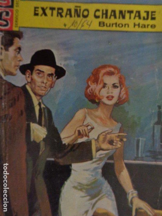 SERVICIO SECRETO Nº 740. EXTRAÑO CHANTAJE. BURTON HARE. BRUGUERA 1964 (Tebeos, Comics y Pulp - Pulp)