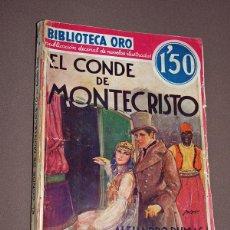 Cómics: EL CONDE DE MONTECRISTO, TOMO II. ALEJANDRO DUMAS. BIB. ORO S. ROJA Nº II-3. MOLINO, 1934. LONGORIA. Lote 211679189