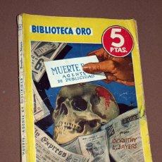 Cómics: MUERTE, AGENTE DE PUBLICIDAD. DOROTHY L. SAYERS. BIB. ORO AMARILLA Nº 167. MOLINO, 1944. MALLORQUÍ. Lote 211691338