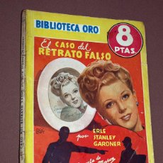 Cómics: PERRY MASON: EL CASO DEL RETRATO FALSO. ERLE STANLEY GARDNER. BIB. ORO AMARILLA Nº 223. MOLINO, 1947. Lote 211693830