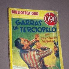 Cómics: PERRY MASON: GARRAS DE TERCIOPELO. ERLE STANLEY GARDNER. BIB. ORO AMARILLA Nº III-41. MOLINO, 1935.. Lote 211697615