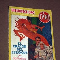 Cómics: PHILO VANCE: EL DRAGÓN DEL ESTANQUE. S. S. VAN DINE. BIB. ORO AMARILLA Nº III-6. MOLINO, 1934.. Lote 211699281