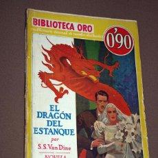 Cómics: PHILO VANCE: EL DRAGÓN DEL ESTANQUE. S. S. VAN DINE. BIB. ORO AMARILLA Nº III-6. MOLINO, 1934.. Lote 211699495