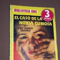 Cómics: PERRY MASON: EL CASO DE LA NOVIA CURIOSA. ERLE STANLEY GARDNER. BIB. ORO AMARILLA N 127. MOLINO 1941. Lote 211700116
