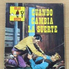 Cómics: CÓMIC PULP - SERIE GRAN OESTE - CUANDO CAMBIA LA SUERTE. PRODUCCIONES EDITORIALES (1976). Lote 211846922