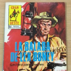 Cómics: CÓMIC PULP - SERIE GRAN OESTE - LA BALADA DE LEX BONEY. PRODUCCIONES EDITORIALES (1979). Lote 211847058