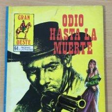 Cómics: CÓMIC PULP - SERIE GRAN OESTE - ODIO HASTA LA MUERTE. PRODUCCIONES EDITORIALES (1980). Lote 211847996