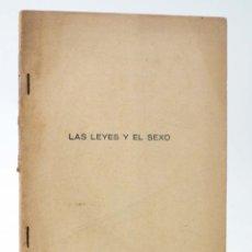 Cómics: TEMAS SEXUALES. BIBLIOTECA DE DIVULGACIÓN SEXUAL 56. LAS LEYES Y EL SEXO (A. MARTÍN DE LUCENAY) 1934. Lote 218670326
