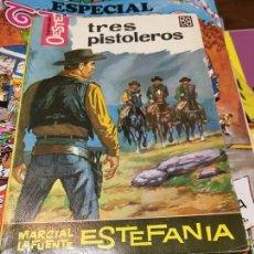 Cómics: HÉROES DEL OESTE - TRES PISTOLEROS - NÚMERO 250 - BRUGUERA. Lote 218686492