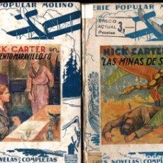 Cómics: 15 NÚMEROS NICK CARTER COLECCIÓN POPULAR MOLINO - VER TÍTULOS E IMÁGENES (1935 - 1936). Lote 219002178