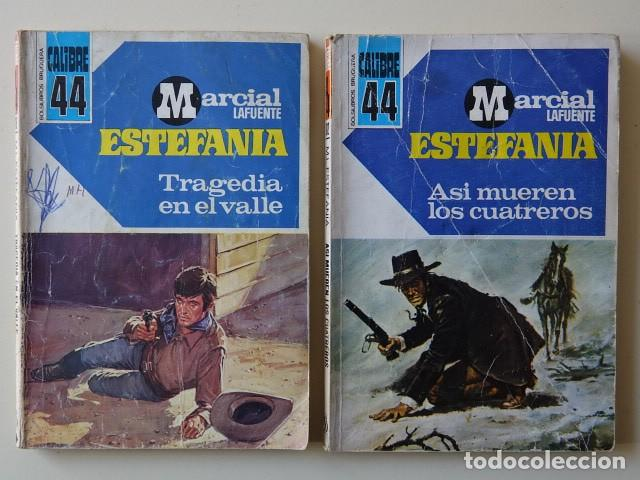 LOTE 2 MARCIAL LAFUENTE ESTEFANÍA TRAGEDIA VALLE ASÍ MUEREN CUATREROS CALIBRE 44 BOLSILIBRO BRUGUERA (Tebeos, Comics y Pulp - Pulp)