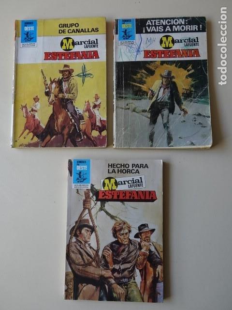 LOTE 3 MARCIAL LAFUENTE ESTEFANÍA GRUPO CANALLAS ATENCIÓN VAIS MORIR HECHO PARA HORCA OESTE BRUGUERA (Tebeos, Comics y Pulp - Pulp)
