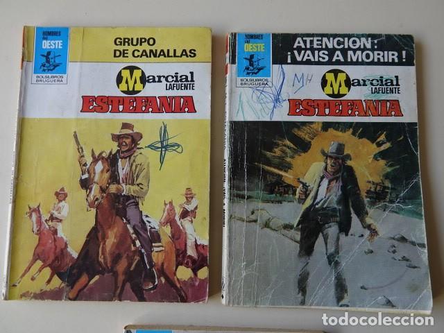 Cómics: Lote 3 Marcial Lafuente Estefanía Grupo canallas Atención vais morir Hecho para horca Oeste Bruguera - Foto 2 - 221281631