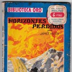 Cómics: BIBLIOTECA ORO Nº 287 - HORIZONTES PERDIDOS - JAMES HILTON - MOLINO - ILUSTRADO. Lote 221360957